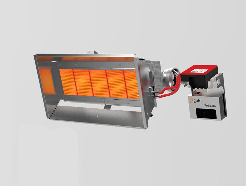 Seramik Plakalı Radyant Isıtıcı - Gufo EKO L5- 11 kW TEK KADEME