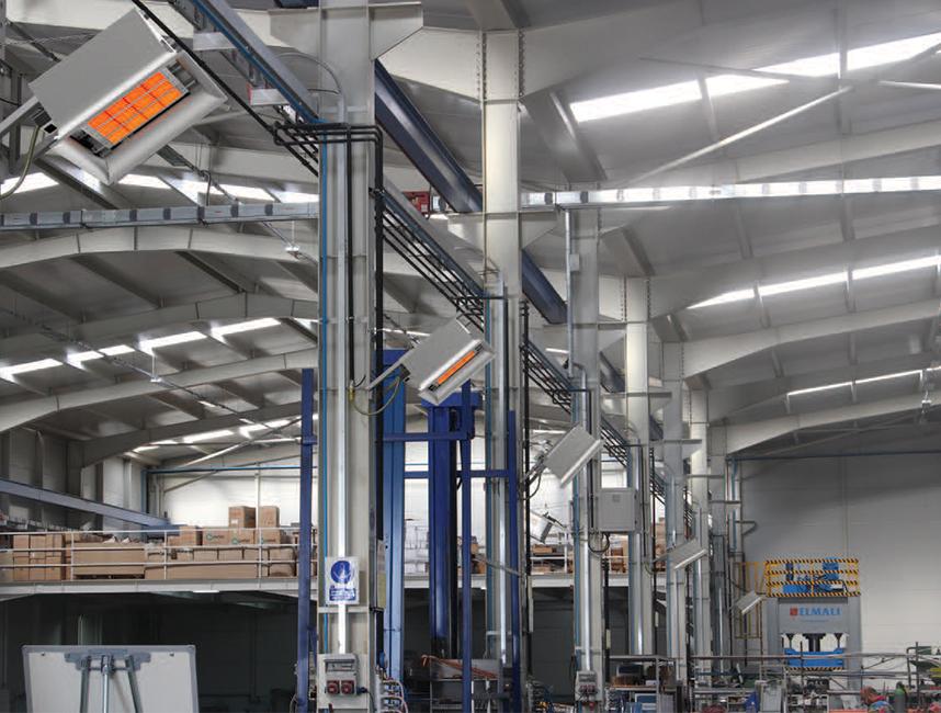 Seramik Plakalı Radyant Isıtıcı - Gufo EKO D25- 48,5 kW ÇİFT KADEMELİ+KUMANDA2