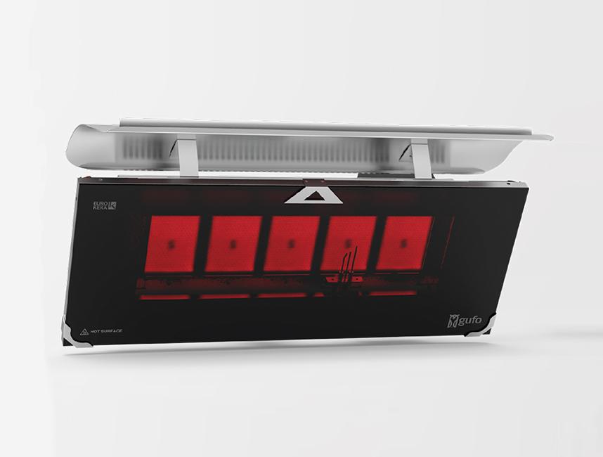 Gufo HG Seramik Radyant Isıtıcı Dekoratif Cafe Isıtma Sistemleri           - 12,5 kW