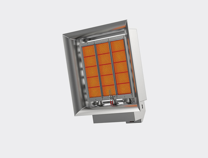 Seramik Plakalı Radyant Isıtıcı - Gufo EKO D15- 30,5 kW TEK KADEMELİ