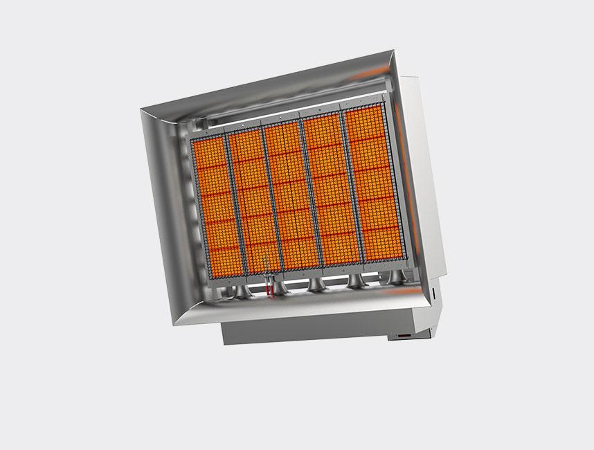 Seramik Plakalı Radyant Isıtıcı - Gufo EKO D25- 48,5 kW TEK KADEMELİ
