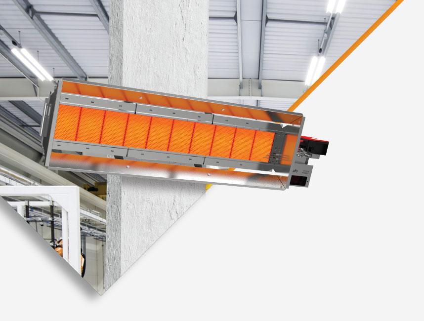 Seramik Plakalı Radyant Isıtıcı - Gufo EKO L5- 11 kW TEK KADEME2