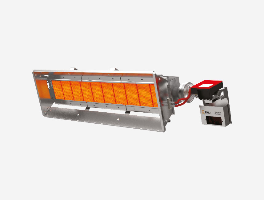 Seramik Plakalı Radyant Isıtıcı - Gufo EKO L10- 18 kW TEK KADEMELİ