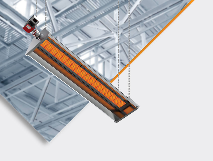 Seramik Plakalı Radyant Isıtıcı - Gufo GP İzolasyonlu - 30 kW ÇİFT KADEME+KUMANDA2