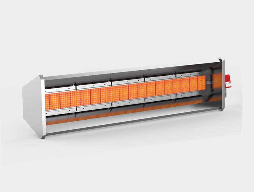 Seramik Plakalı Radyant Isıtıcı - Gufo GP - 34 kW ÇİFT KADEMELİ+KUMANDA
